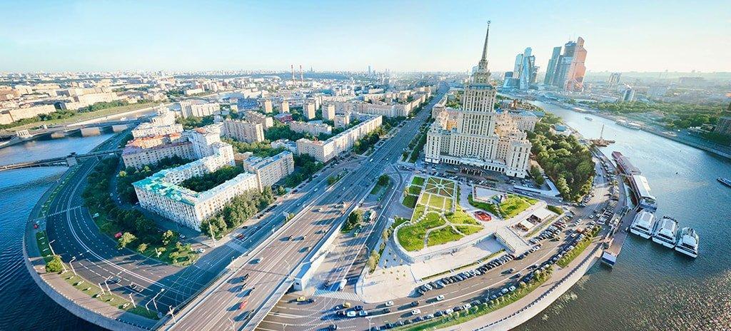 Гостиница Украина с высоты птичьего полета