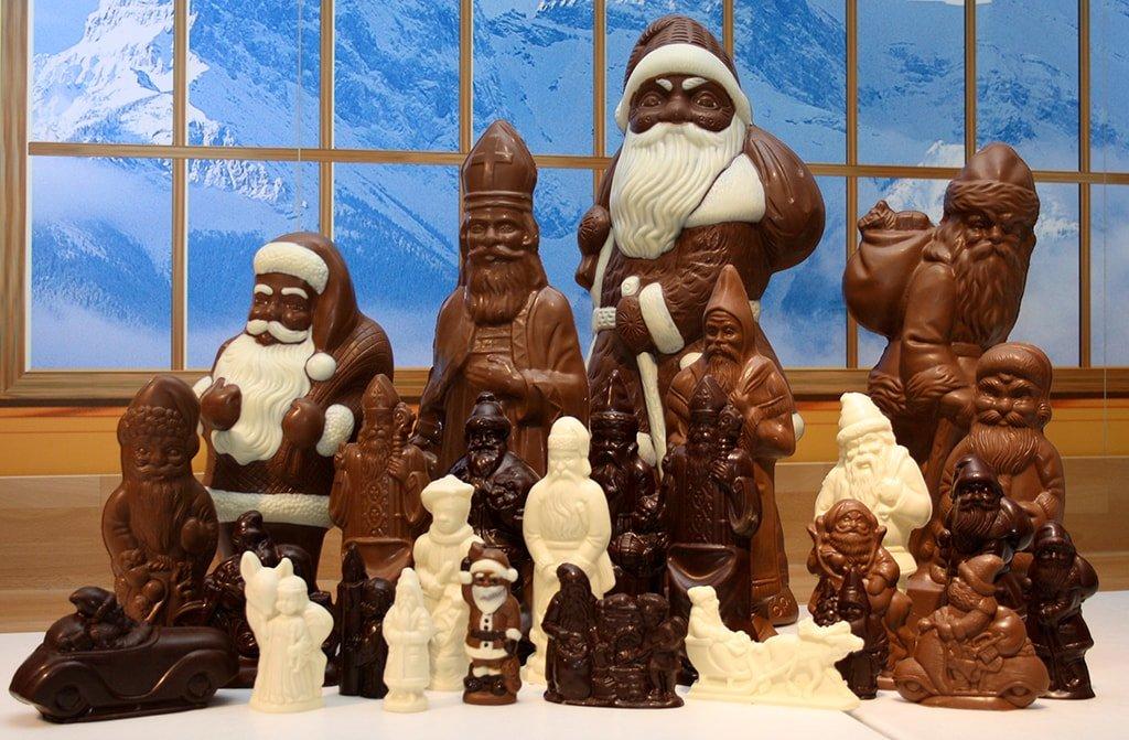 Шоколадные деды морозы