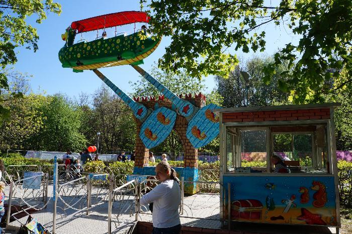 Детский парк аттракционов в парке Северное Тушино