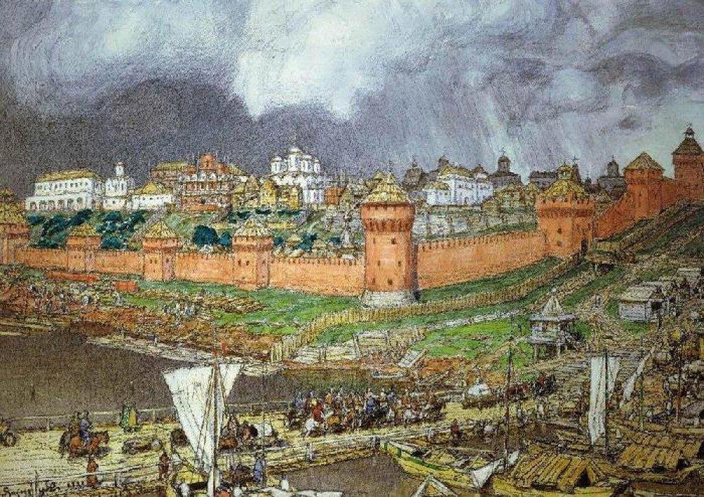Московский Кремль при Иване Великом