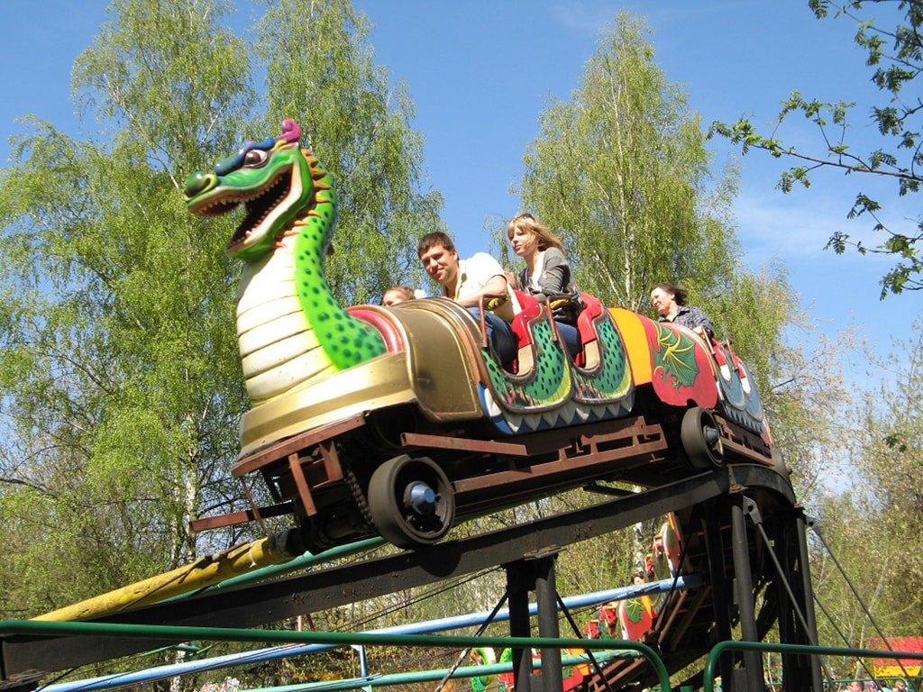 Парк развлечений в парке Лианозовский