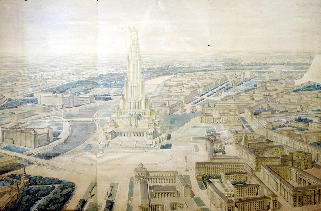 Здание Советов в Москве. Проект Б. Иофана