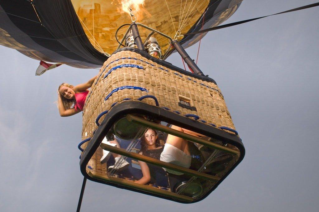 Полет на воздушном шаре в Москве_Прозрачное дно
