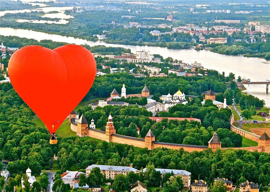 Полет на воздушном шаре в Москве_Сердце