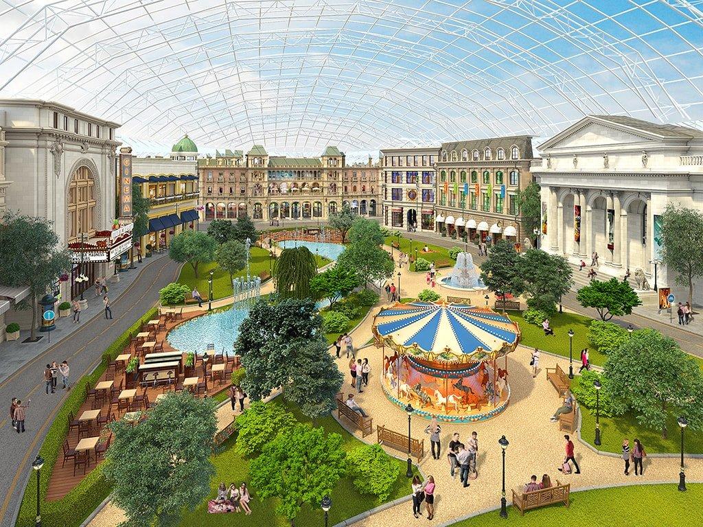 Центральная площадь городского променада