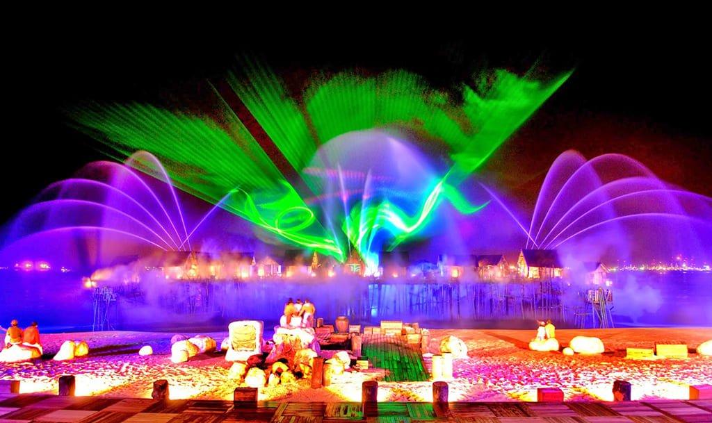 Лазерное шоу Песни Моря