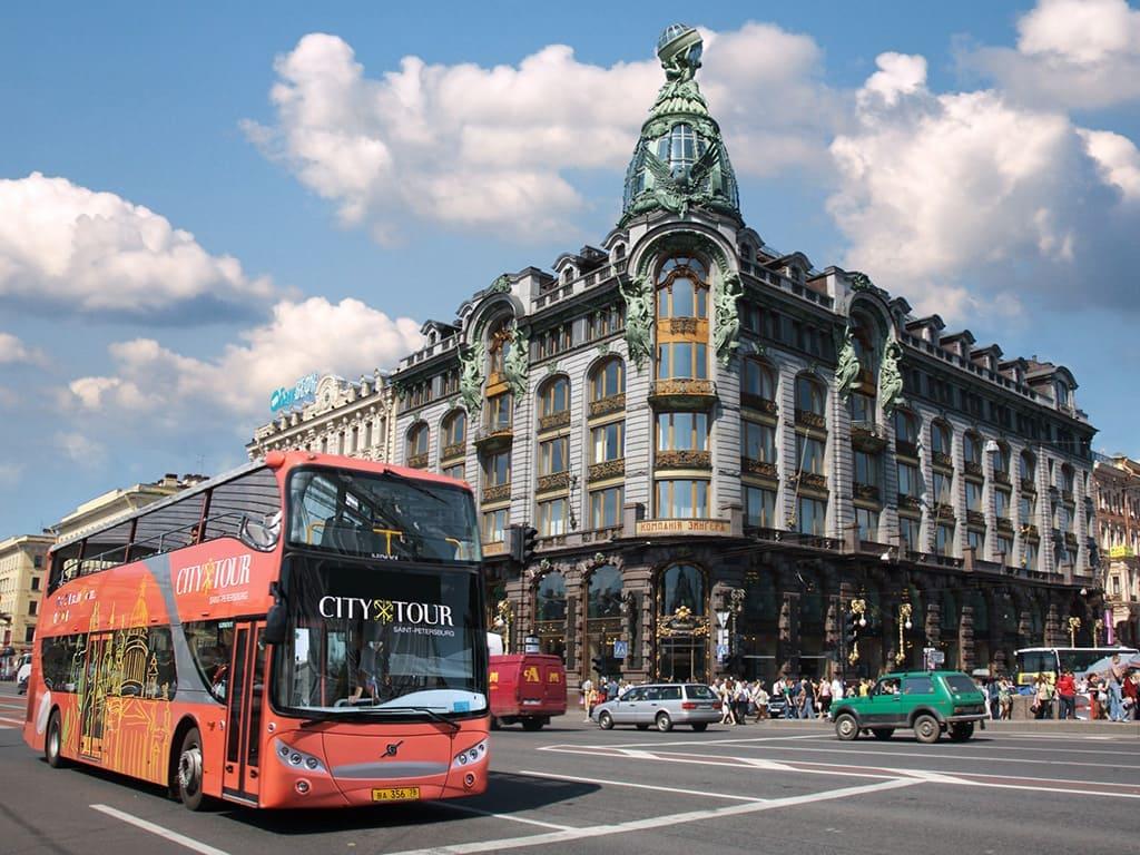 Экскурсии на двухэтажном автобусе по Санкт-Петербургу