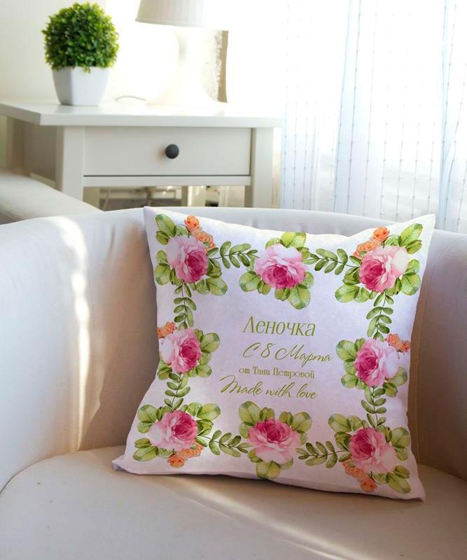 Декоративная подушка «Весенний день»